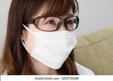 Hay fever women, Mask, glasses, goggles