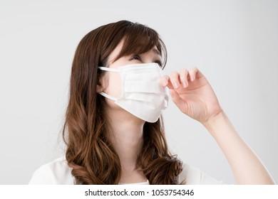 Hay fever women, Mask, runny nose