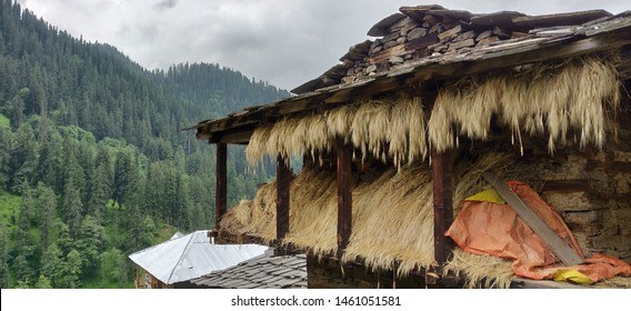 A hay godown in the middle of Malana, Himachal Pradesh, India