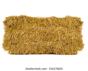 hay isolated on a white background