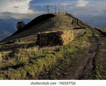 hay stack near a country side road in Ecuador