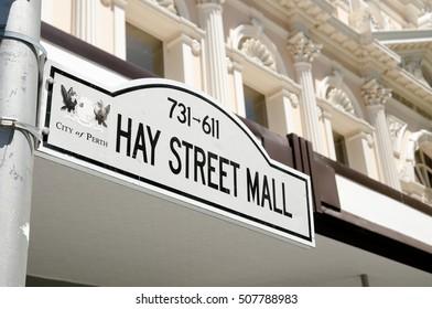 Hay Street Mall Sign - Perth - Australia