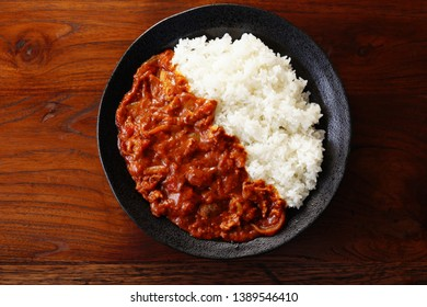 Hayashi rice. Rice with hashed beef.