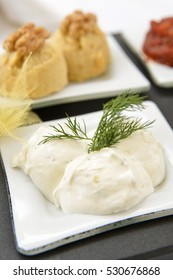 Haydari (Tzatziki) - Salted strained yogurt mixed with cucumbers, garlic and salt