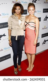 Hayden Panettiere and Eva Longoria at the Whaleman Foundation Benefit Dinner held at the Beso in Hollywood on August 10, 2008.