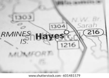 Hayes Virginia Map.Hayes Virginia Usa Stock Photo Edit Now 601481579 Shutterstock