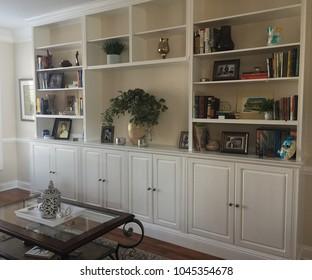 Haymarket, VA/USA - 031318: Built-In Bookshelf