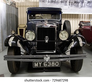 Haynes International Motor Museum in  England, UK - September 26 2017 - 1930 Morris Oxford Car.  The Museum Contains over 400 cars and motorcycles and a collection of other automobilia.