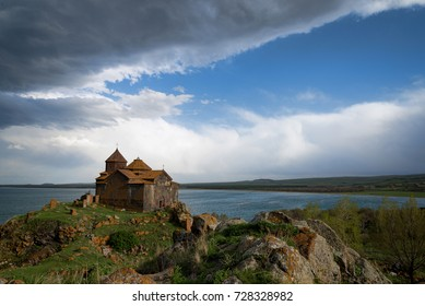 Hayravank monastery Armenian temple on Sevan lake shore