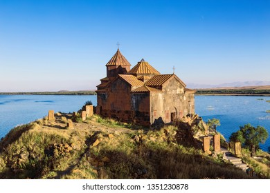 Hayravank monastery near the village of Hayravank, on the Western shore of lake Sevan in the Gegharkunik province. Armenia