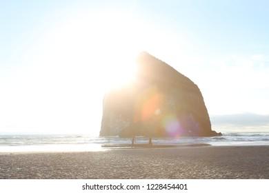Haystack Rock Bokeh