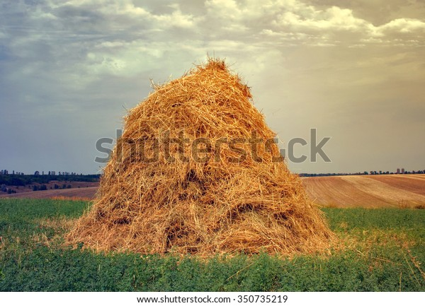 haystacks Country Side Hay Bale