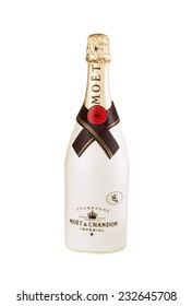 Hayward, CA - November 23, 2014: 750mL bottle of  Moet Chandon Champagne