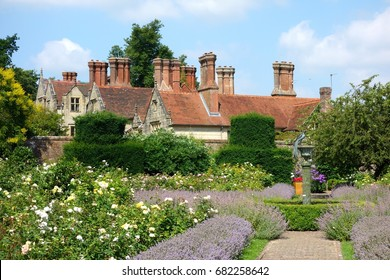 HAYWARDS HEATH, ENGLAND - JULY 9: Borde Hill Garden is  near Haywards Heath,  in southern England. It is set in over 200 acres of garden, park and woodlands, in Haywards Heath, England, July 9, 2017.