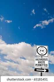 Hazardous waste sign in central California