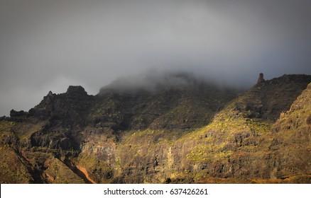 Haze on mountains