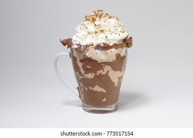 Hazelnut coffee drink dessert