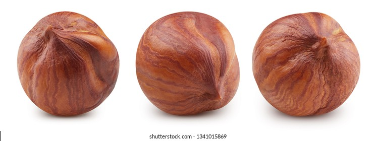 Hazelnut isolated on white background. Hazelnut Clipping Path Professional studio macro shooting