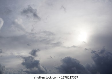 Hazy and cloudly sky photograph