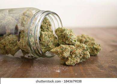 Hazy Kush medical marijuana flower. Cannabis flower strain. Indica, sativa, hybrid. Weed flower. Dispensary menu. Medical marijuana dried flower. Recreational marijuana strain.