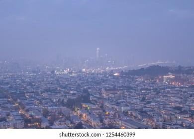 Hazy San Francisco at Twilight