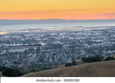 Hazy Sunset over Silicon Valley, USA