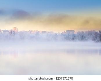 Hazy winter day