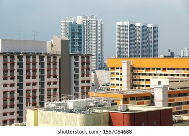HDB apartments cityscape in the morning, Singapore, 2019 Oct 10