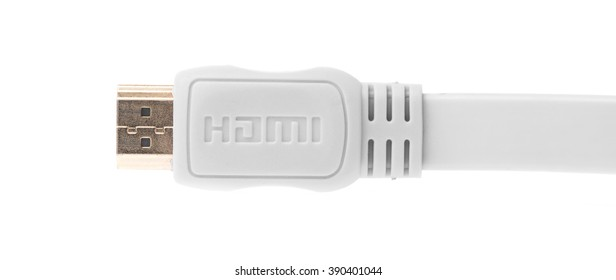 Hdmi cable isolated on white background