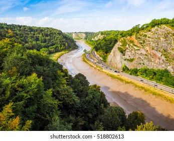 HDR Avon Gorge of River Avon in Bristol, UK