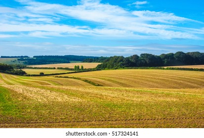 HDR English country panorama around Salisbury in England, UK