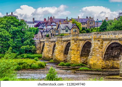 HDR of a Historic old stone Bridge at Corbridge Northumberland England