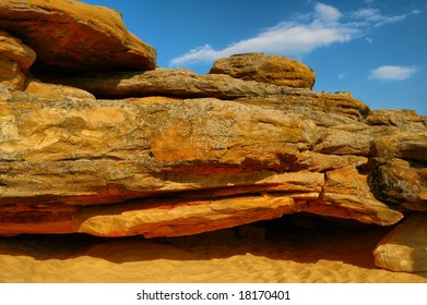 HDR image of the beautiful natural sandstones