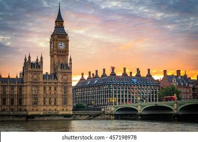 Hdr image of Big Ben Clock in London, United Kingdom.