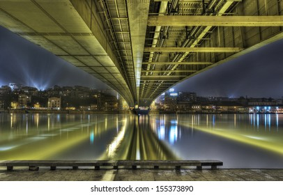 HDR image of bridge in Belgrade Serbia