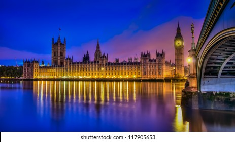 A hdr image of the British houses of parliament