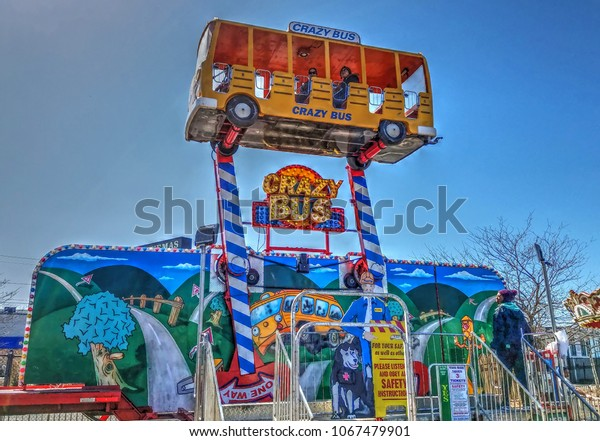 Hdr Image Carnival Arcade Crazy Bus Stock Photo (Edit Now