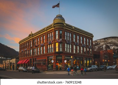 HDR image of the Elks building. The Elks Building in downtown Aspen was built in 1891 during the Silver Boom. Aspen, Colorado.