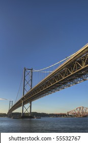 HDR Image Of The Forth Bridges
