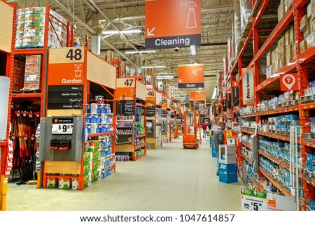 hdr image home depot store department stock photo edit now 1047614857 shutterstock. Black Bedroom Furniture Sets. Home Design Ideas