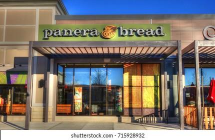 HDR image, Panera Bread healthy choice sandwiches restaurant - Lynnfield Massachusetts USA - November 23, 2014