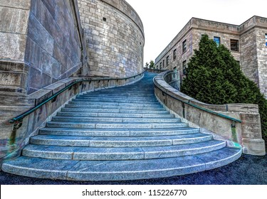 HDR Image of Staircase on the westside of St. Joseph's Oratory in Montreal.