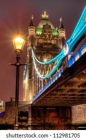 HDR image of Tower bridge at night