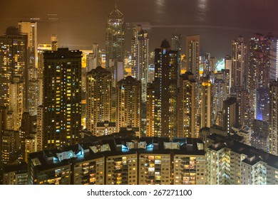 HDR images of Hong Kong Victoria harbor scenes