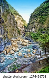 HDR image,this is the type scene you will see in the canyons and cliffs of Taroko National Park in Hualien County, Taiwan.