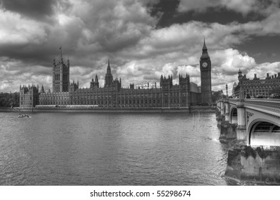HDR monotone image of Westminster, London.