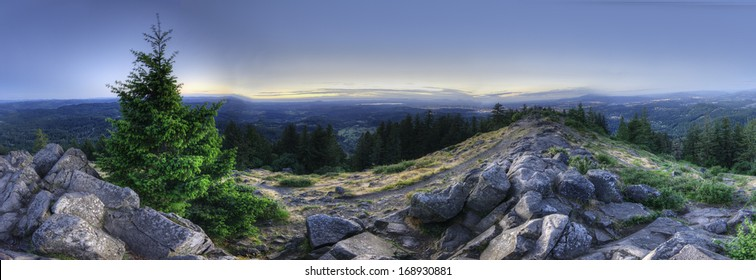 An HDR Panorama taken on top of a mountain. Mount Pisgah, Eugene, Oregon, United States.