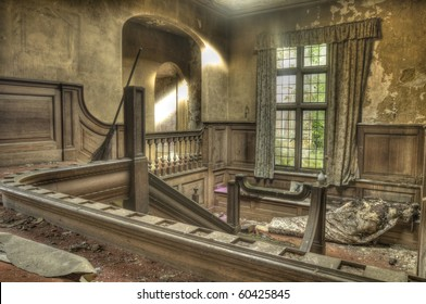 An HDR Photo of a derelict stairwell