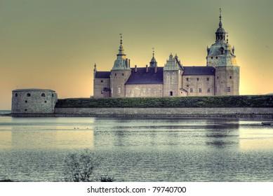 Hdr photo of Kalmar castle in evening light