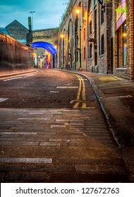 A HDR shot of a london back street
